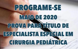 Exame de TE Especial acontecerá em maio de 2020