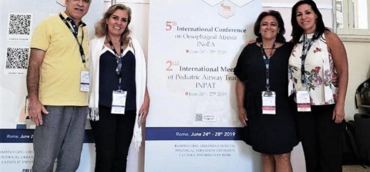 Cirurgiões pediátricos brasileiros participam de eventos internacionais de esôfago e vias aéreas